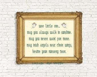 Irish Nursery Blessing, Irish Nursery Decor, Irish Blessing,INSTANT DOWNLOAD, Irish Newborn Blessing,Newborn Irish Blessing,Newborn Blessing