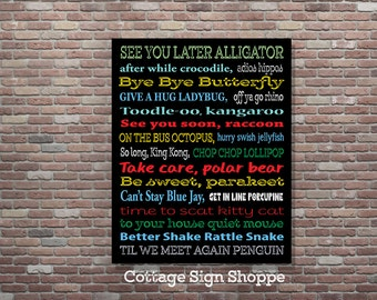 Goodbye Sign,See You Later Alligator, Till We Meet Again Penguin,Teacher Classroom Art,Classroom Decor, 4 Sizes Included, Digital Download
