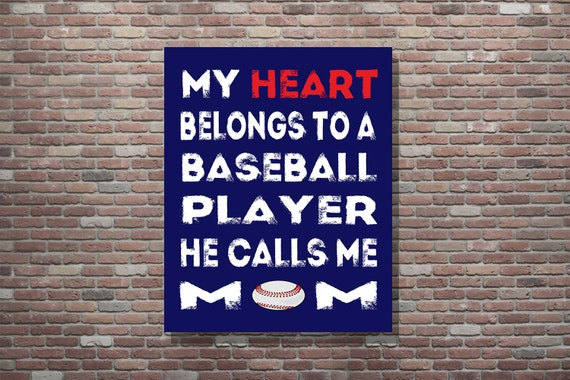 Baseball Mom, Baseball Mom Art, Baseball Mom Gifts, Gifts For Moms, INSTANT DOWNLOAD, Baseball Theme Art,Baseball Wall Art, Sports Mom Gifts