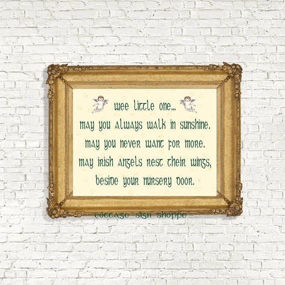 Irish Nursery Blessing Irish Nursery Decor Irish
