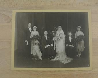 1920's Vintage Wedding Photo on Card Antique Photograph Australia