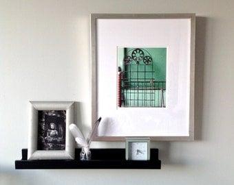 Custom Framed Art, Framed Photography, Urban Art, Rustic Framed Wall Art, Gear Art, Brushed Silver Framed Print, 16x20 Framed Wall Decor