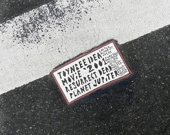 New York Street Art, Toynbee Tile Print, City Street Photography, NYC Urban Art, Red Black & White Wall Art,New York Photography,Urban Decor