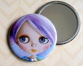 Blythe Doll - Pocket Mirror purple hair pastel girl
