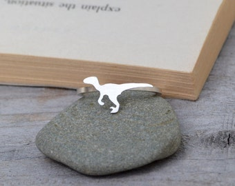 Velociraptor Ring In Sterling Silver, Dinosaur Ring Handmade By Huiyi Tan