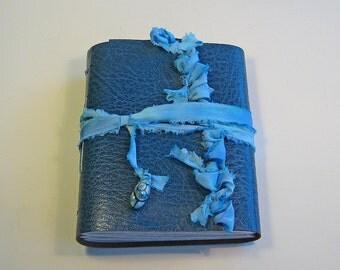 Blue Leather Journal, Goddess Journal, Leather Diary, Travel Journal, Art Journal, Writers Journal, Leather Notebook, Handbound Book, Blank