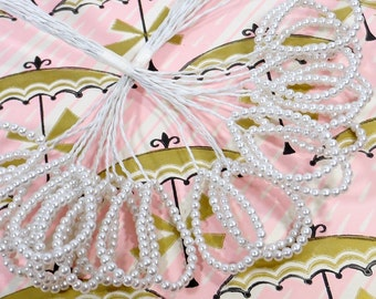 Vintage Pearl Beads   Floral Pick Sprays   Bouquet Accents   Party Craft Supplies   Hat Hair   Wedding Shower Arrangements   Garland Wreaths