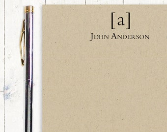 personalized notePAD - SIMPLY CLASSIC MONOGRAM - kraft notepad - stationery - stationary - monogrammed