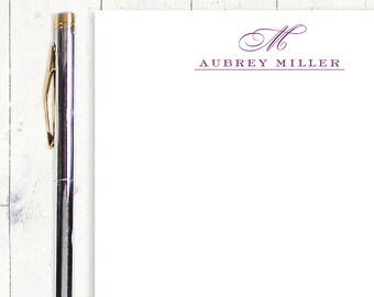 personalized notePAD - CLASSIC MONOGRAM - stationery - stationary - monogrammed notepad - letter writing paper