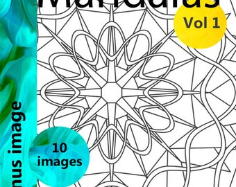 Mandala Coloring Book Vol 1, simple and intricate Mandala coloring pages for artists of all ages