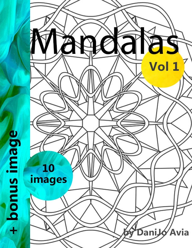 Mandala Coloring Book Vol 1 Simple And Intricate Mandala