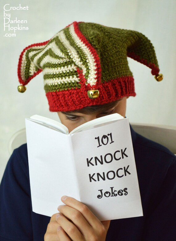 crochet pattern Jester Hat with Knit Look Ribbing silly elf, joker, fool Adult Child Teen INSTANT pdf DOWNLOAD with BONUS Frog Hat Pattern