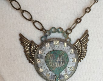 Air Travel Steampunk Necklace