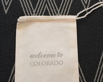 Welcome to Colorado: Favor Bag for Weddings, Parties and Events