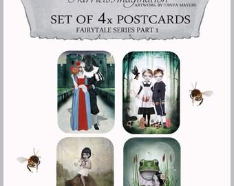 Postcard Set x 4 - Fairytale Postcards Part 1
