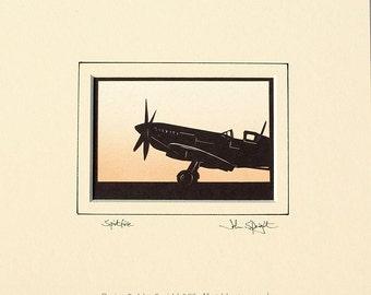 Spitfire Hand-Cut Papercut
