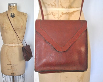Oxblood Leather Satchel / burgundy bag purse