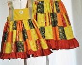 Harvest Girls Dress Ready to ship sz 3t  Fall style\Hayride Dress Little girls, toddler girls