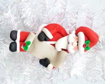 Santa with List Ornament - Personalized Santa Ornament - Nice List - Naughty List - Santa Collectible - Santa Collector - 814