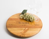 "Chateau Ausone Wine Crate featured on our 16"" Lazy Susan"