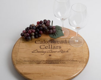 """Cakebread Cellars Dancing Bear Ranch featured on our 16"""" Lazy Susan"""