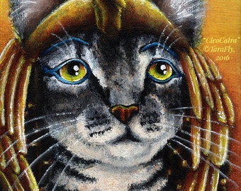 Cleopatra Cat Queen of Egypt Fine Art Print 8x10