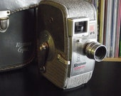 Mid Century Keystone K25 Capri 8mm Film Movie Camera with Leather Case