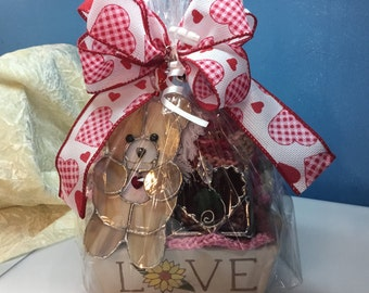 Valentine's Day Gift Basket in Stained Glass