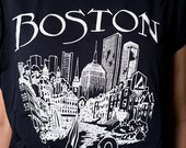 The Vintage 50/50 Black Boston Massachussetts TShirt