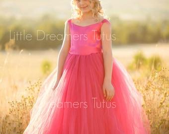 NEW! The Ella Dress in Fuchsia  - Flower Girl Tutu Dress