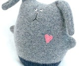Cashmere Bunny Rabbit Bunny Child's Toy Rabbit Soft Gray Bunny Upcycled Snuggle Bunny