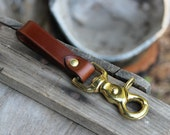 READY TO SHIP! Leather belt loop key holder - mens keychain, key fob clip, gift for him