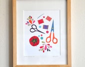 Make Something Today - Limited Edition Hand-Embellished Print by Megan Jewel