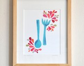 Bon Appetit - Limited Edition Hand-Embellished Print by Megan Jewel