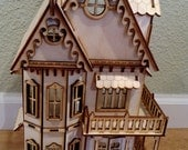 1/4 inch scale Victorian Gingerbread Dollhouse Kit