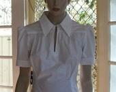 1940's reproduction Blouse -  CRISP WHITE COTTON