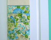 Wall or Door Hanging Organizer in a Multi Pocket Tropical Design