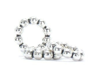 Set of 3 - Bella Fascini Petite Bubbles Spacers - Solid 925 Sterling Silver Charm Bead fits Pandora, Charmed Memories, Chamilia & more (F07)