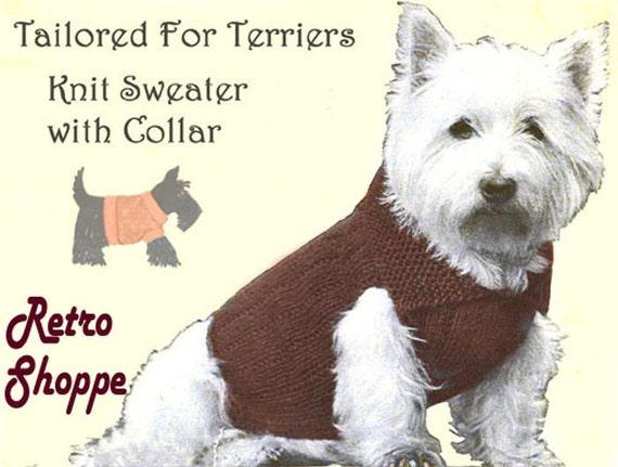 Vintage Knitting Pattern Coat Sweater fits Highland ...