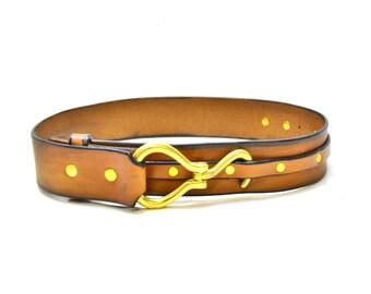 Equestrian Belt - Horse Hoof Pick Leather Waist Belt - Waist Cincher - Horse Lover Gifts