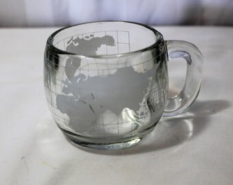 Vintage Nestle Glass Globe Mug, 3 Available in This Style