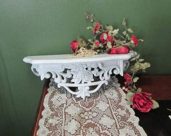 Upcycled Shelf French Country  White Decorative Shelf