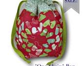 "SALE * Mittens on A String - ""One Skein"" Holiday Project Bag for Knitting or Crochet"