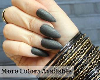 Plain Color Stiletto Nails in Your Choice of Colors, Matte or Glossy Nails
