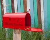 Mailbox Adrress with Intails and Heart Wall Decal