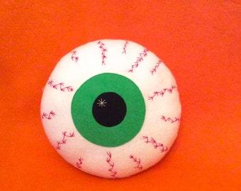 Halloween Cushion - Zombie Eyeball Pillow - Bloodshot Eyeball Decoration - Creepy Cute Decor - Goth Decor - Halloween Gift