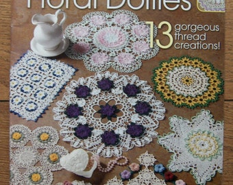 2003 crochet pattern dozen and one floral doilies 13 designs in thread crochet