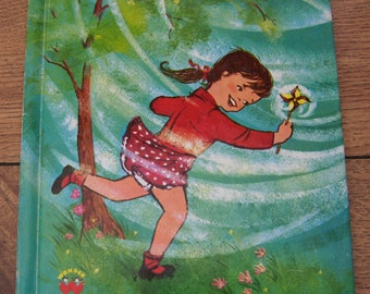 Vintage 1960 Wonder Book - BLOW WIND BLOW children girl