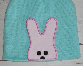 """Embroidered Iron On Applique-""""Bunny Peeker"""""""
