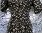 sz 3 / 4 EXPRESS STORE 1990s 90s Woodland vintage soft rayon maxi dress